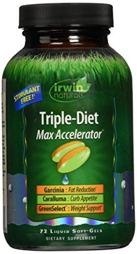 Irwin Naturals Triple Diet Max Accelerator Capsules, 72 Coun
