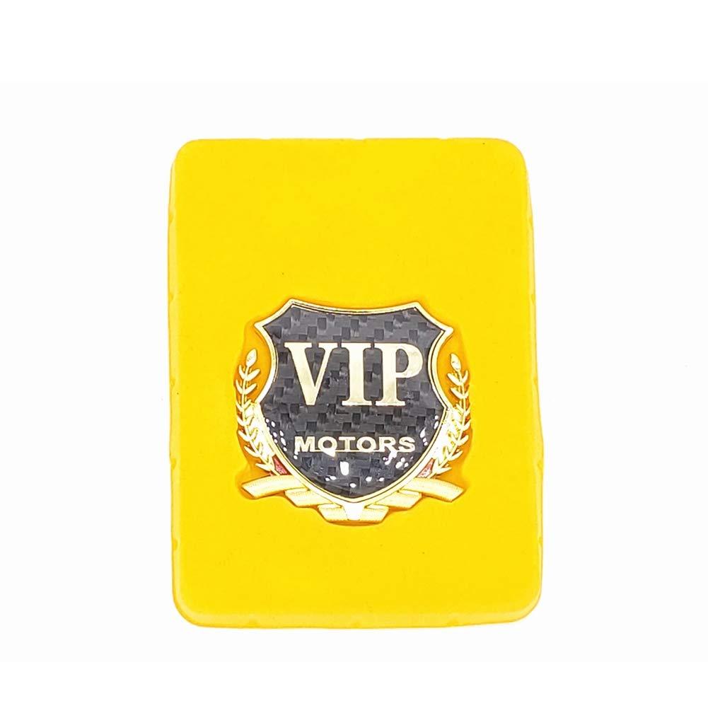 Gold LIUYE 3D Carbon Fibre VIP Logo VIP Emblem Badge VIP Shield Badge Sticker for All Vehicles
