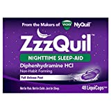 ZzzQuil Nighttime Sleep-Aid LiquiCaps 48 LiquiCaps (Pack of 2)