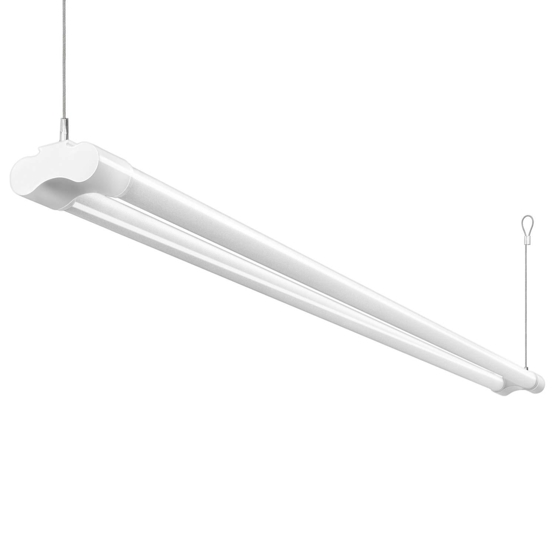 Details about 4 ft led shop light 5000k utility garage ceiling light hanging fixture daylight