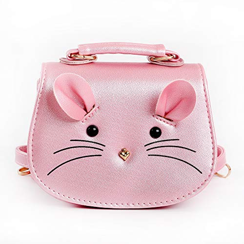 CharmingBuy Girls Purse Trendy Kids Cute Mouse Toddlers Purse Crossbody Bag for Little Girls