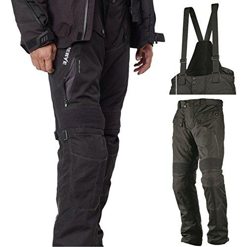 Motorradhose Standard und Kurzgrößen -Spider- Herren Sommer Winter Motorrad Textilhose mit Protektoren und Hosenträger