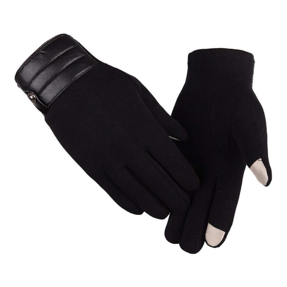 GLOVESCOA Männer Outdoor Sports Handschuhe Touch Screen Laufhandschuhe Winddicht Winter Warm Radfahren Klettern Vollfinger Fitness Handschuh