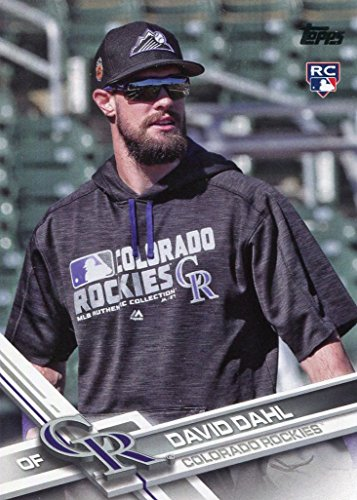 2017 Topps #306B David Dahl UPD SP sunglasses on - - Sunglasses Upd