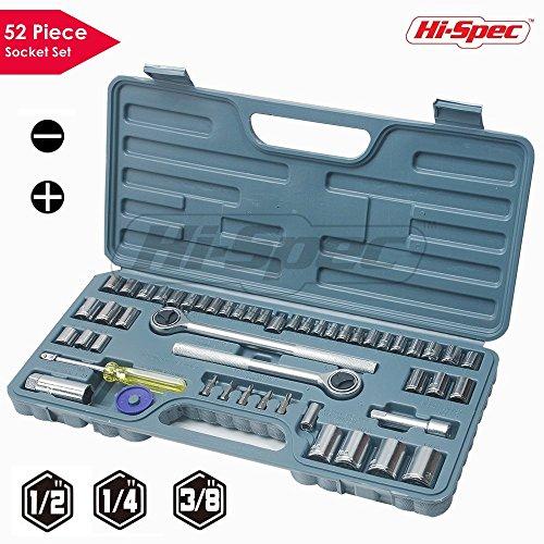 5/8 Socket Female (Hi-Spec 52 Piece SAE & Metric Socket Set including 1/2