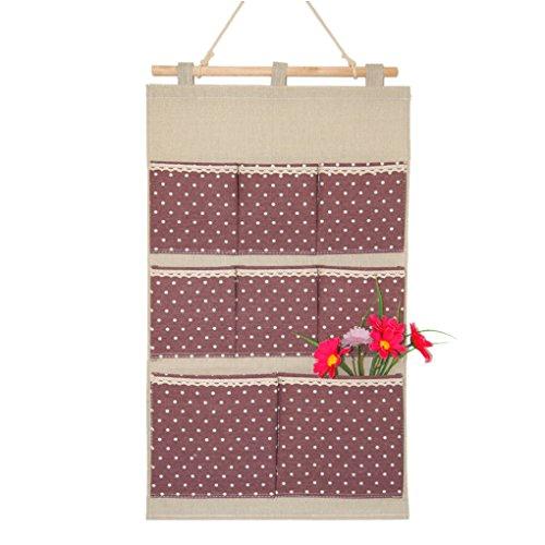 BXT 8 Tasche Baumwolle Hängeorganizer Hängeaufbewahrung Speicherbeutel Praktische Ordnungssysteme an der Tür Wand Multifunktionale Wohnzimmer Schlafzimmer Bad Utensilo Mehrschicht-Aufbewahrungstasche  Violett 4hSLtpYaw9
