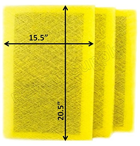 Air Ranger Replacement Filter Pads 17x23 (3 Pack) YELLOW