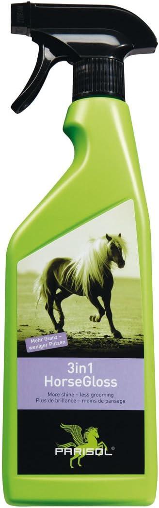 Parisol Horse-Gloss 3 in1 - Spray abrillantador para piel, cola y crines de caballo, 750 ml