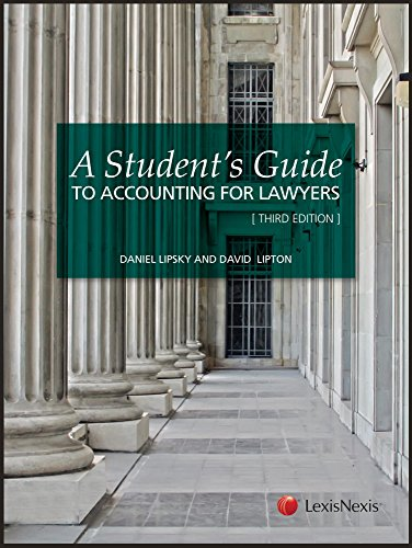A Student's Guide to Accounting for Lawyers (Student Guide)
