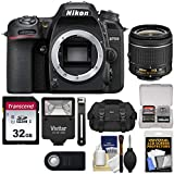 Nikon D7500 Wi-Fi 4K Digital SLR Camera Body with 18-55mm VR AF-P Lens + 32GB Card + Case + Flash Kit (Certified Refurbished)