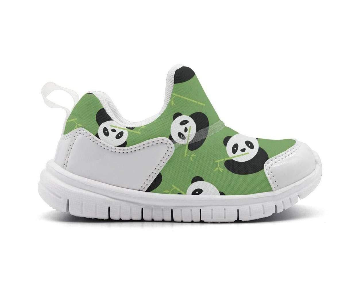 ONEYUAN Children Green Bamboo Panda Bear Baby Kid Casual Lightweight Sport Shoes Sneakers Running Shoes