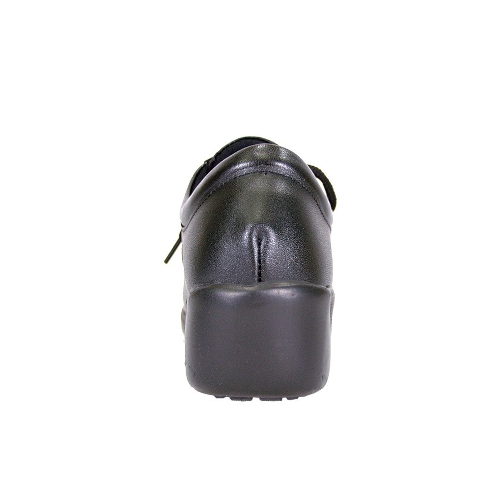 24 Hour Comfort  Meg Women Extra Wide Width Lace up Shoes Black 9 by 24 Hour Comfort (Image #4)