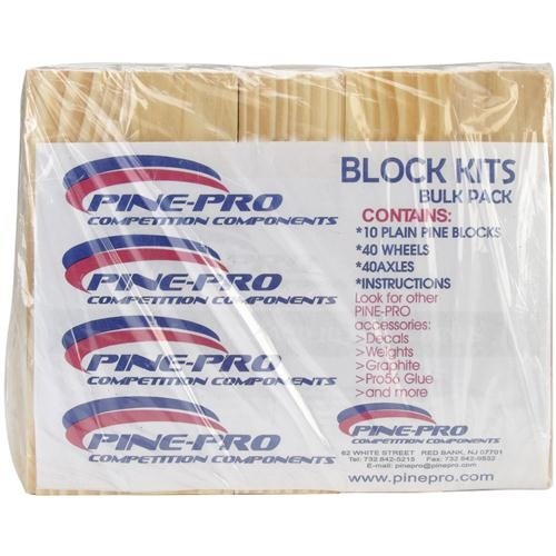 Pine-Pro Competition Components 10051 Block Kits Bulk (10), Baby & Kids Zone