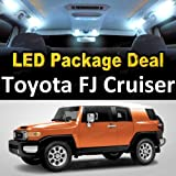 HighTechAutoAccessory - LED Interior Package Deal for 2010 Toyota FJ Cruiser (6 Pieces), WHITE