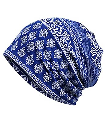 Luccy K Womens Cotton Summer Chemo Hat Beanie Scarf - Breatfable Beanie Cap Bandana for Cancer Gift