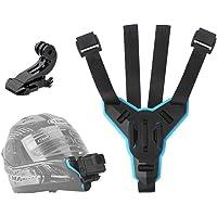 TELESIN Motorcycle Helmet Strap Mount Front Chin Mount for GoPro Hero 2018/6/5/4/3, Session, SJCAM, AKASO, Campark…