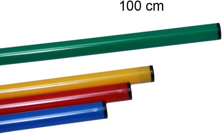 Stange 100 cm Boje Sport 10er Set Slalomstange mit X-Standfu/ß gr/ün Farbe