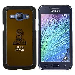LECELL--Funda protectora / Cubierta / Piel For Samsung Galaxy J1 J100 -- Óyeme rugir --