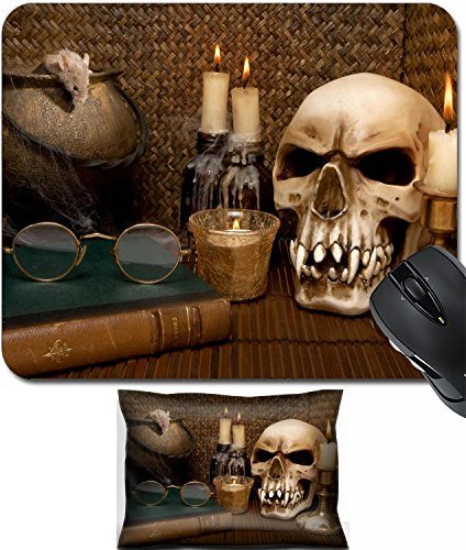 MSD Mouse Wrist Rest and Small Mousepad Set, 2pc Wrist Support design: 5535637 One little mouse in a halloween (Halloween Hot Scene)