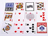 LooBooShop 1 PCS Bicycle Super Gaff V2 (Blue & red) 15 Edition Playing Cards Magic Tricks