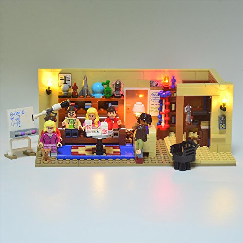 Led Light Up Kit Toy For Ideas Series The Big Bang Theory Model Compatible With lego 21302 (NOT Included The Model Set)