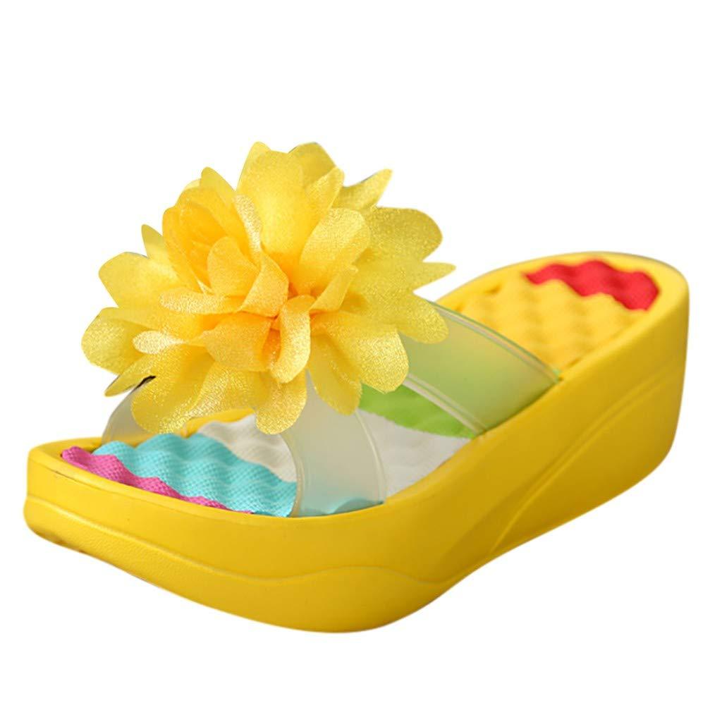 Summer Sandals Platform Flip Flops Slippers Sandals Swing Wedge Women Hole Shoes