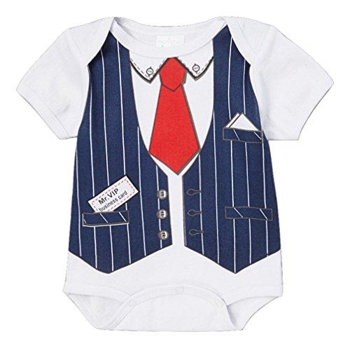 'Mr. Vip' Infant Baby Boys Future Boss Costume Creeper (0/3 Months)