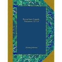 Rovartani Lapok, Volumes 12-13