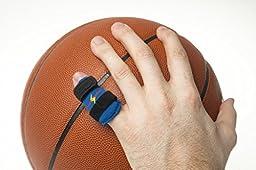 Powersplint - Sports Finger Splint Guard Protector Brace for adults & children, all sports (medium black)