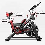 YOVYO-Cyclette-da-Interni-Verticale-Allenamento-Spin-Bike-Cyclette-Sedile-E-Braccioli-Regolabili-Regolazione-della-Resistenza-Libera-Struttura-Triangolare-Stabile-Schermo-LCD