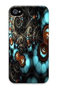 Fractal Circles PC Case Cover for iPhone 4 and iPhone 4s 3D