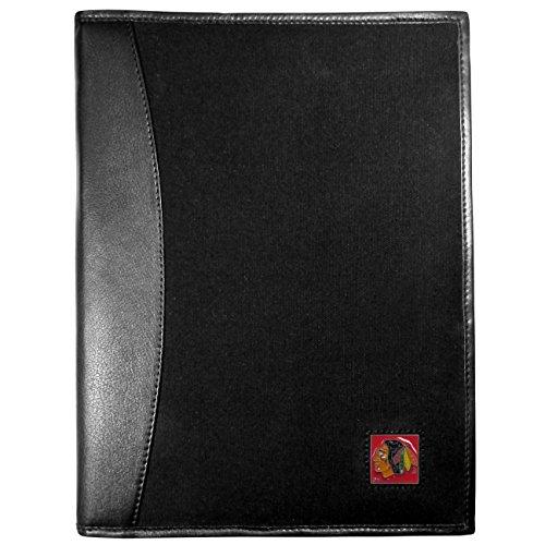 - Siskiyou NHL Chicago Blackhawks Leather and Canvas Padfolio, Black