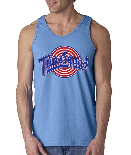 New Way 487 - Men's Tank-Top Tune Squad Space Jam Basketball Team Medium Carolina Blue (Design Top New)