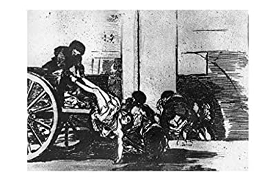 Music Poster Francisco de Goya - Cart with Corpses for The Cemetery c. 1812/15 Print 61x91.5cm