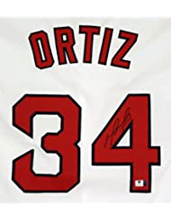 David Ortiz Boston Red Sox Signed Autographed White #34 Custom Jersey COA