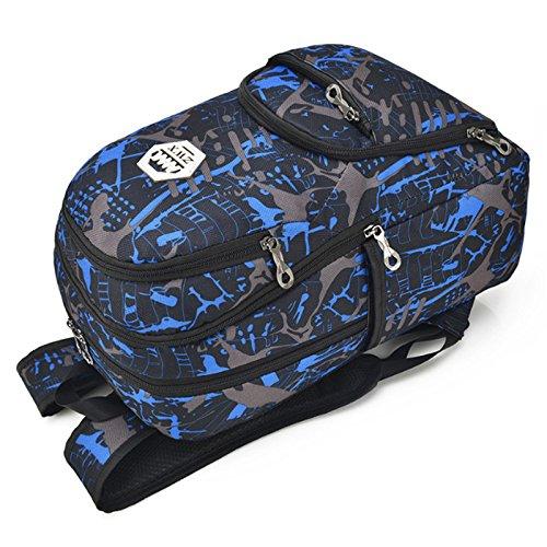 76951511d5ad Kalakk 3Pcs USB Male Backpack Bag Set Red And Blue High School Bag For Boys