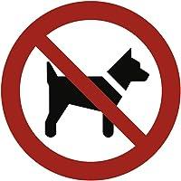 Cartel prohibido llevar los Perros según ASR a1.3/DIN