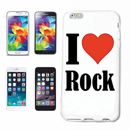 """Handyhülle iPhone 4 / 4S """"I Love Rock"""" Hardcase Schutzhülle Handycover Smart Cover für Apple iPhone … in Weiß … Schlank und schön, das ist unser HardCase. Das Case wird mit einem Klick auf deinem Smar"""