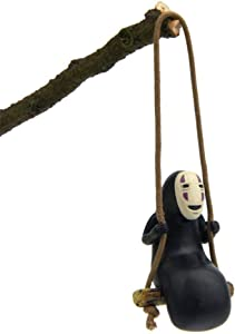 Paul Bec Spirited Away No Face Man Figure Figurines Swing Anime Toy Home Gardening Decor Micro Landscape Decoration Ornaments Resin Crafts Doll