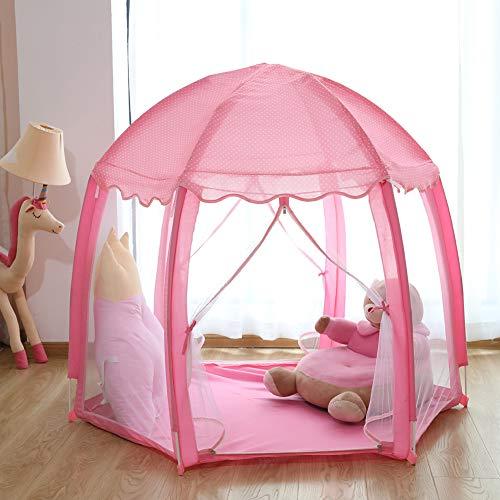 yuandao Hexagonal Kids Tent, New Princess Tent Hexagonal Princess Castle Indoor and Outdoor Girls Tent, 55'' x 51''(DxH) by yuandao (Image #3)