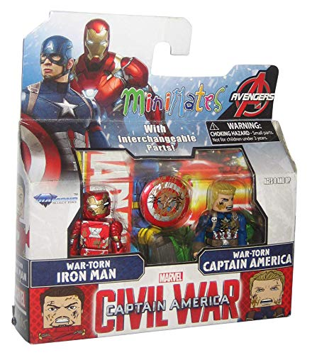 (Marvel Minimates Series 67 Civil War Movie War-Torn Iron Man & Captain America ,#G14E6GE4R-GE 4-TEW6W206256)