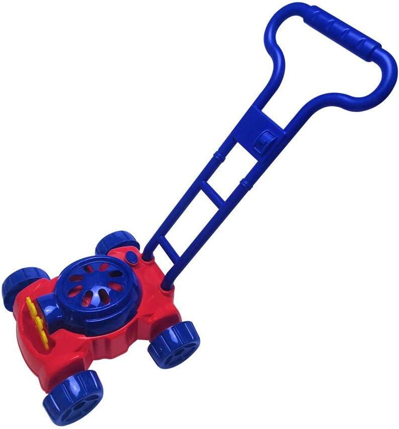 Cortacésped de burbujas, andador de burbujas para bebés, fomenta la imaginación Ejercicio de coordinación corporal Ejercicio automático de burbujas Rociador de burbujas para niños al aire libre