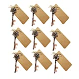 Wedding Favors for Guests Rustic Vintage Skeleton Key Bottle Openers with Escort Card Tag and Twine Party Favors Party Decoration (Bronz-10PCS)