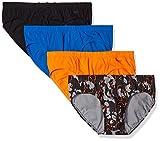 2(X)IST Men's Comfort Cotton Bikini Brief Multipack, Golden Poppy/Lapis/Pop Camo/Charcoal, X-Large