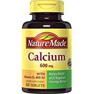 Nature Made Calcium (Carbonate) 600 mg w. D3 400 IU Tablets Value Size