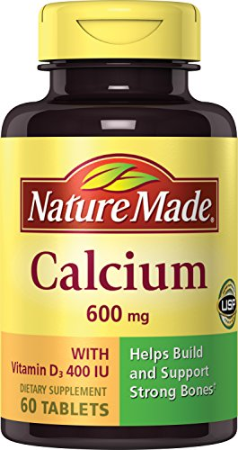 Nature Made Calcium with Vitamin D 600mg, 60 Tablets (Pack of 3)