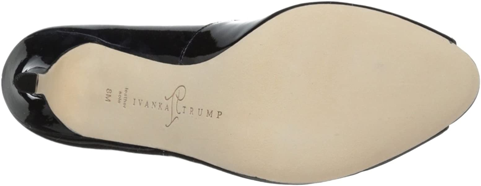 24175e3836 Ivanka Trump Women's Cleo, Navy Patent, 7 M US. Back. Double-tap to zoom