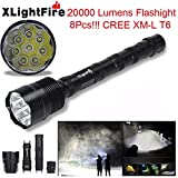 AMA(TM)® XLightFire 28000 Lumens 11x XM-L T6 LED Headlamp Flashlights 3W Headlight 600 Lumens Bright Water Resistance Headlight for Camping Hiking Home Lighting Emergency Darkness Use (20000 Lumens)