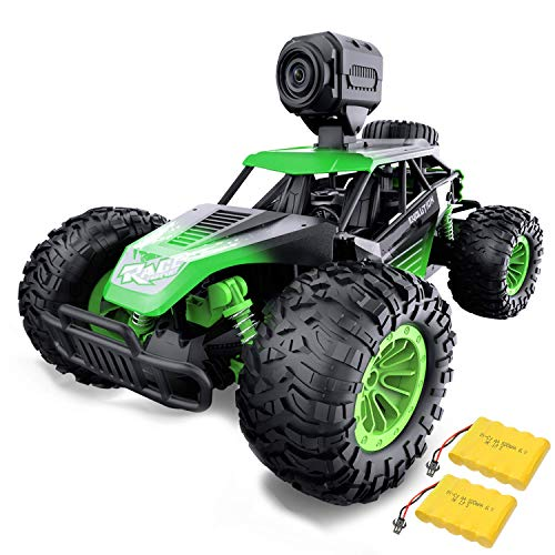 Gizmovine Remote Control Car with Camera, High Speed Racing Off-Road RC Cars with 2 Rechargeable Batteries, Waterproof…