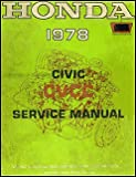 1978 Honda Civic 1200 Repair Shop Manual Original